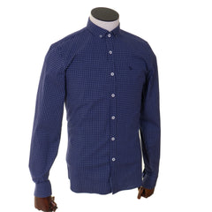 Tom Penn Long Sleeve Navy Slim Shirt