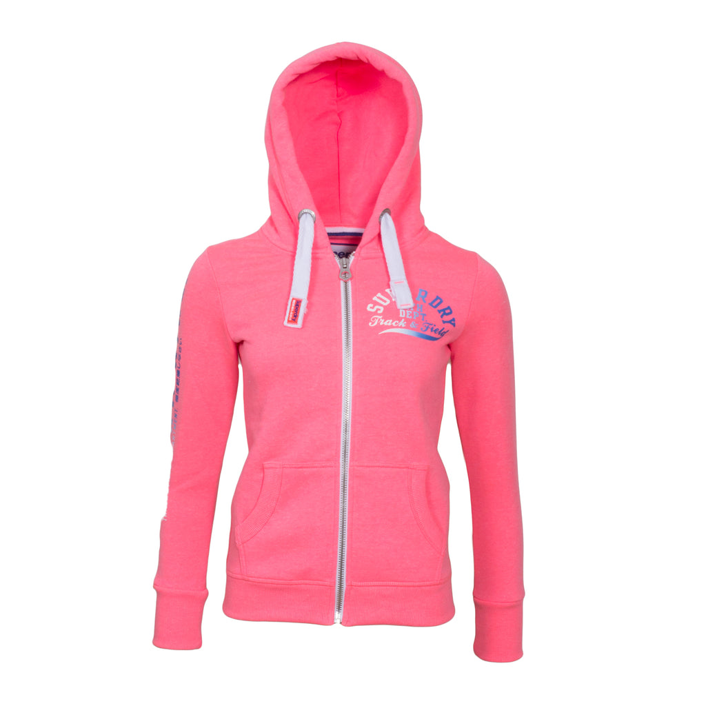 Track & Field Zip Hood By Superdry Womens
