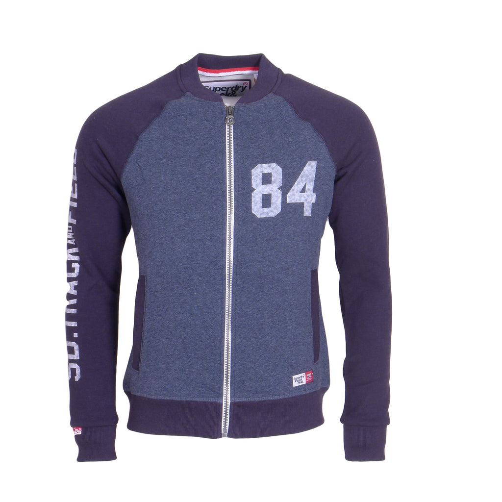 Trackster Baseball Twilight Blue Sweat by Superdry
