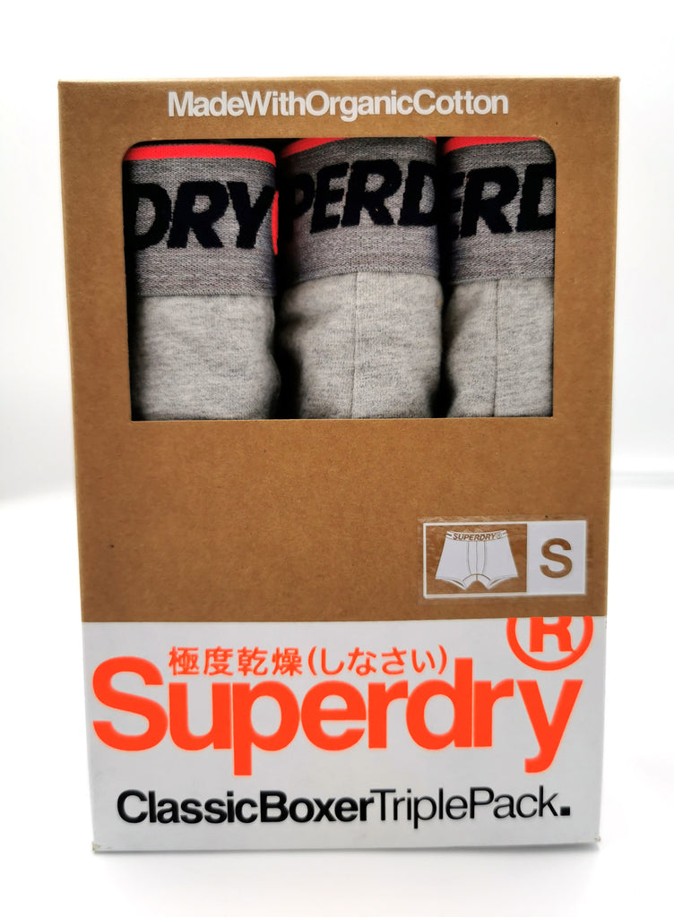 Boxer Triple Pack Grey Marl