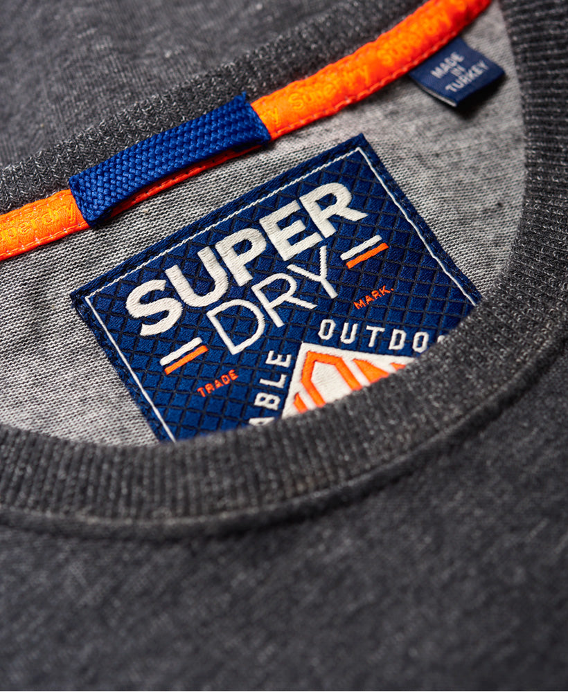 Triple Drop Pop Charcoal Panel Tee by Superdry