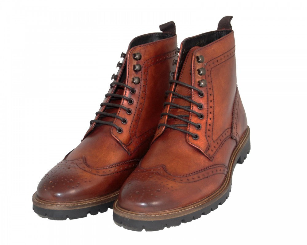 Troop Tan Washed boot by Base London