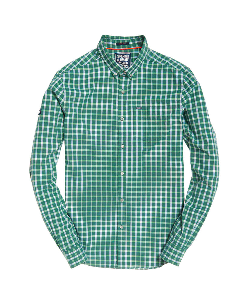 Ultimate Oxford Green Check Shirt by Superdry