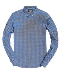 Ultimate University Oxford Blue Check Shirt by Superdry