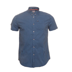 University Oxford Blue Gingham S/S Shirt By Superdry