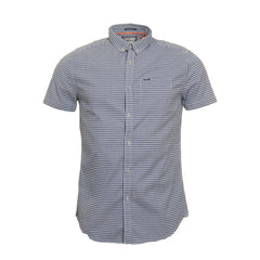 University Oxford Stanford Blue Gingham S/S Shirt by Superdry