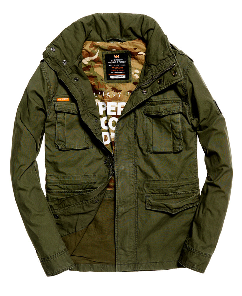 Classic Rookie Military Khaki Jacket By Superdry