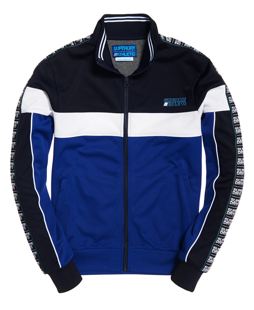 Men's Sd Tricot Paneled Track Top-Navy/Cobalt