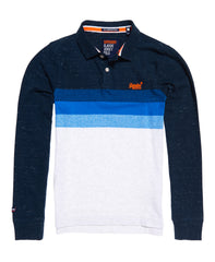 Classic L/S Long Beach Navy Grit Polo