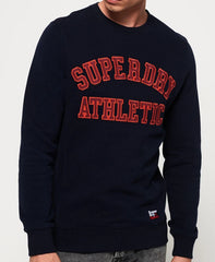 Academy Ribbed Navy Crew Jumper by Superdry