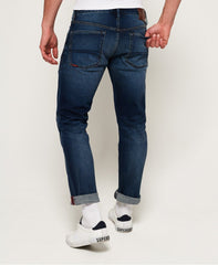 Daman straight sixways mid blue jeans by Superdry
