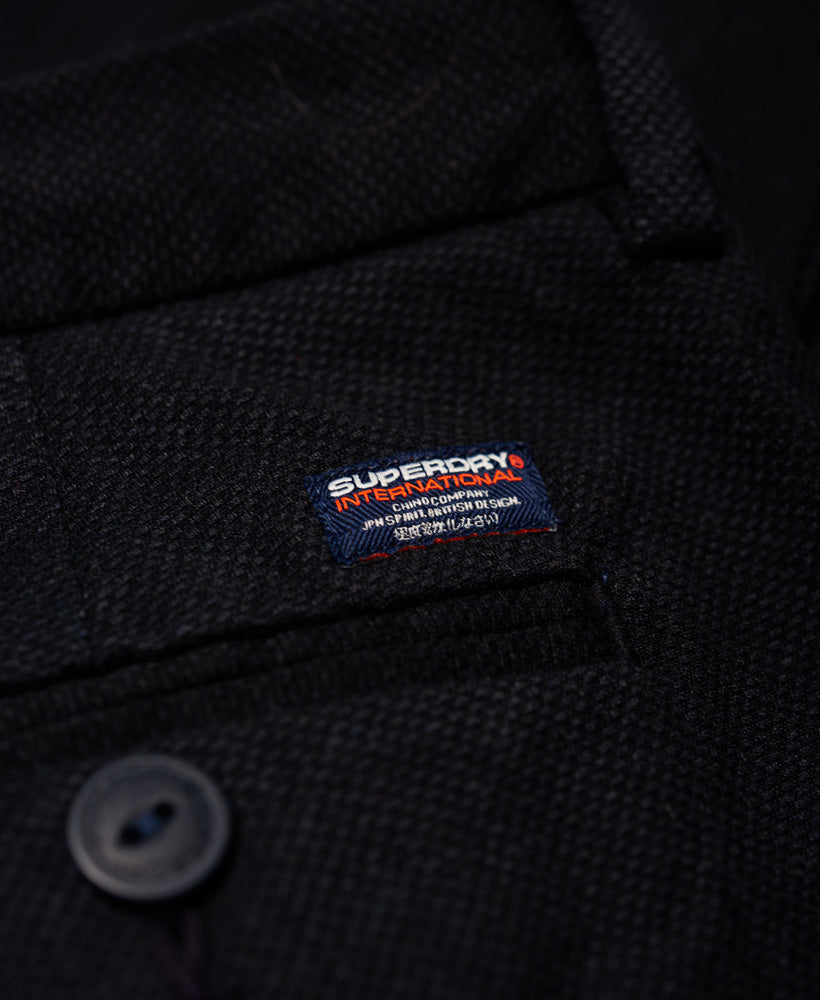 Superdry Navy Textured Merchant Slim Fit Chino.