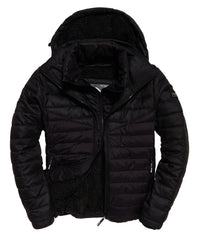 Tweed Mix Fuji  Chevron Jet Black Jacket by Superdry