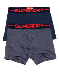 Superdry's Sport Boxer Navy Feeder/Navy Double Pack
