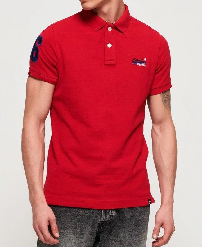 Classic Pique Rich Red Short Sleeve Polo