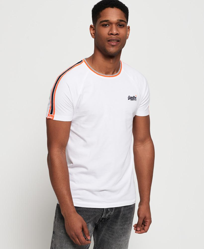 OL Tipped Sports Stripe optical white short sleeve Tee