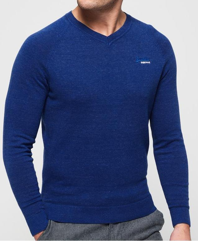 Superdry Orange Label Vee Knit  Berkley Blue