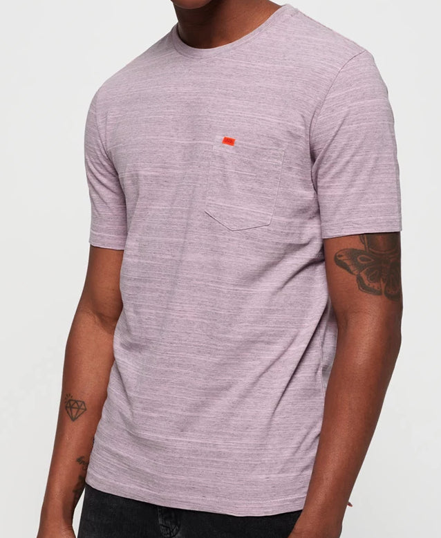 Dry Originals Powder Pink Pocket Tee by Superdry