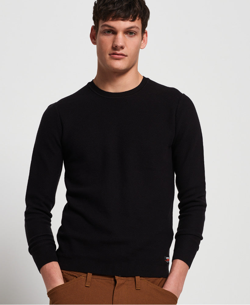 Supima Cotton Crew neck Black jumper