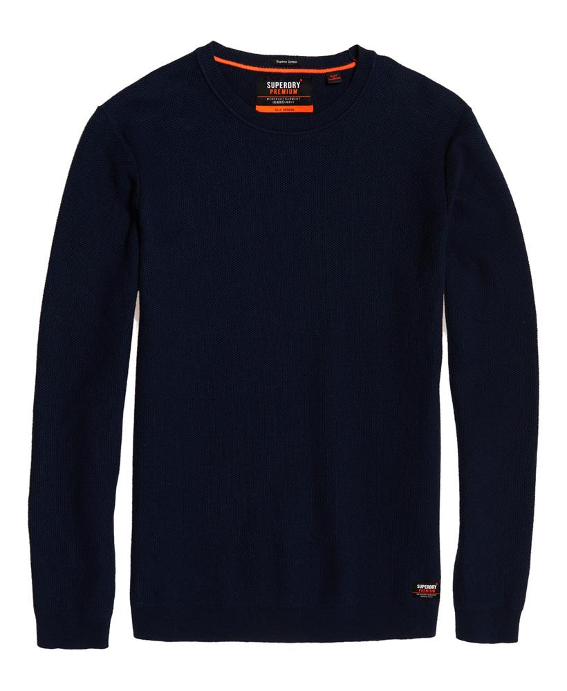 Supima Cotton Crew neck dark navy jumper