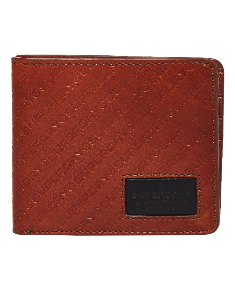 Superdry men's Badgeman Tan Leather Wallet.
