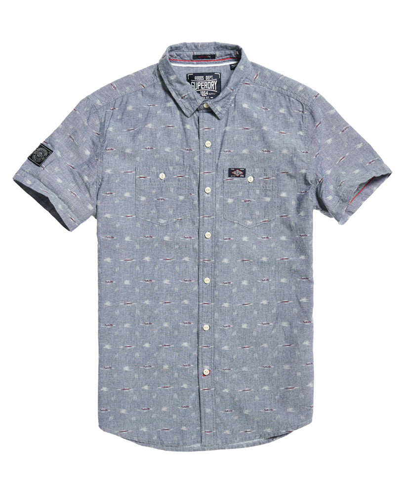 Indigo Riveter IKat Printed Short Sleeve Shirt