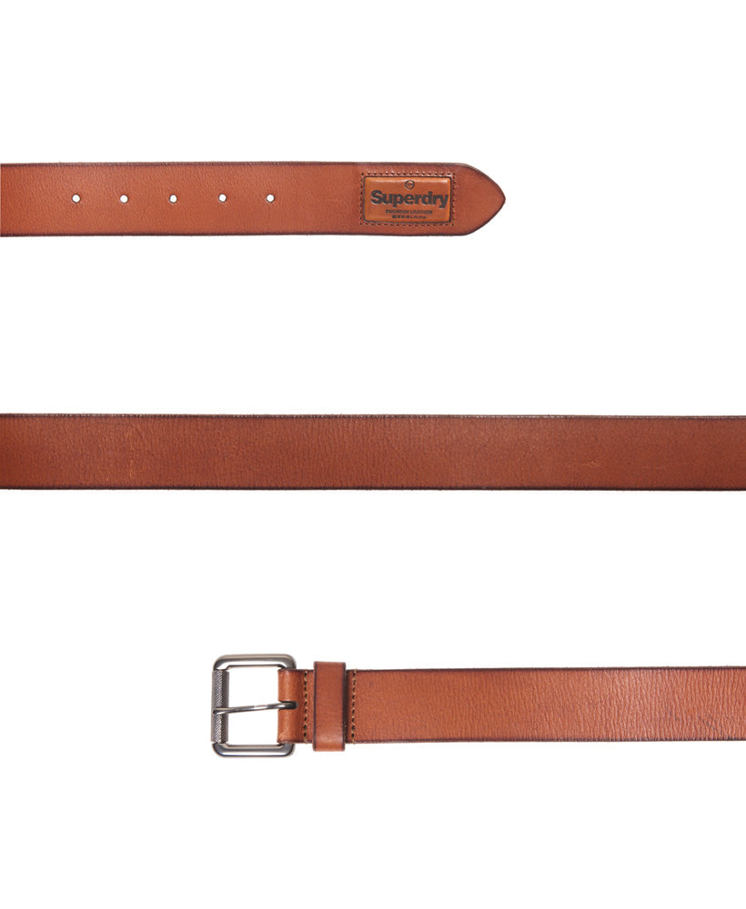 Badgeman leather tan belt