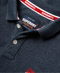 classic pique Creek Navy Grindle short sleeve polo shirt by Superdry