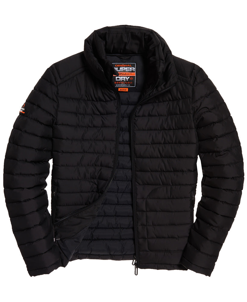 Fuji double zip washed black jacket by Superdry