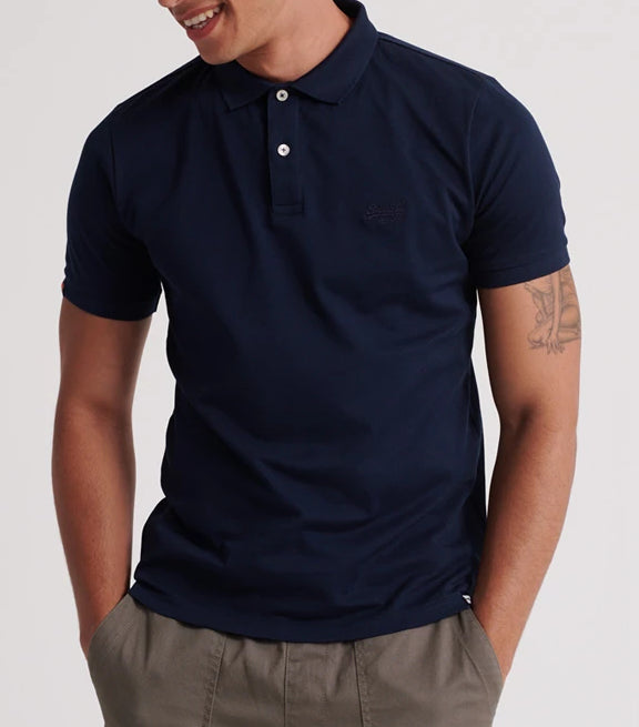 Superdry Lite Micro Pique Midnight Polo