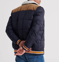 Downhill Racer Box Quilt True Navy Jacket  by Superdry
