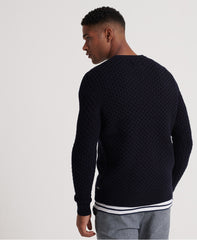 Edit Cable Dark Navy Crew neck Jumper