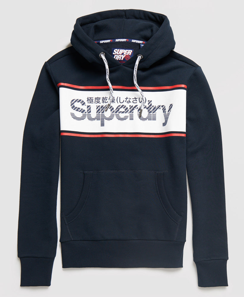 Retro Sport Eclipse Navy Over the Head Hoodie by Superdry