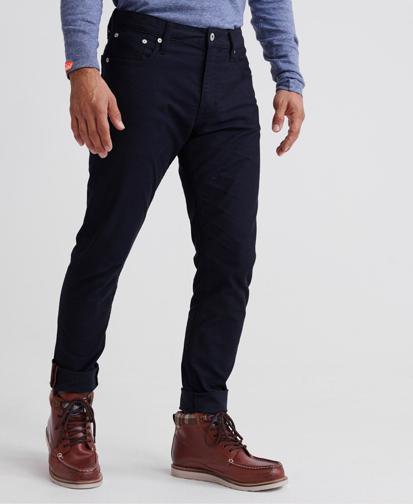 Edit slim double dye twill chrome navy jean