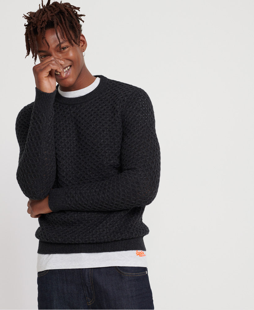 Edit Cable Dark Charcoal Crew neck Jumper