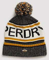 Superdry Logo Grey/Yellow Beanie hat