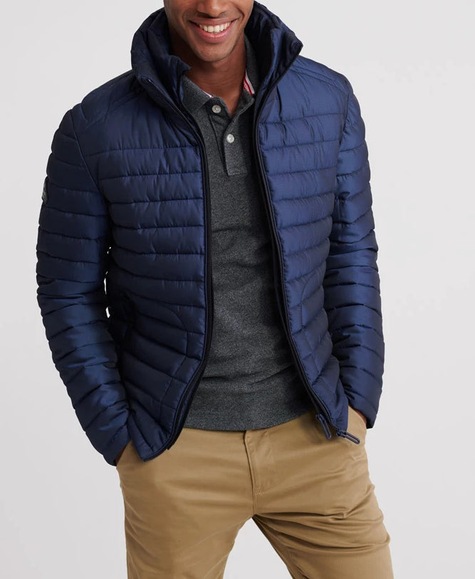 Double Zip Deep Marine Fuji Jacket by Superdry