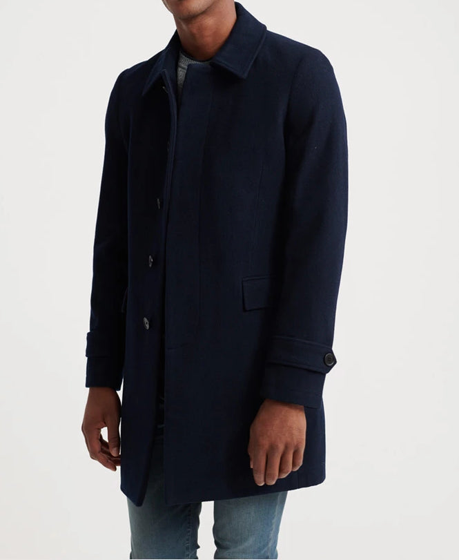 Edit Wool Dark Navy Car Coat by Superdry