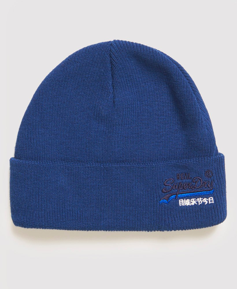 OL Terrace Navy Grit Beanie by Superdry