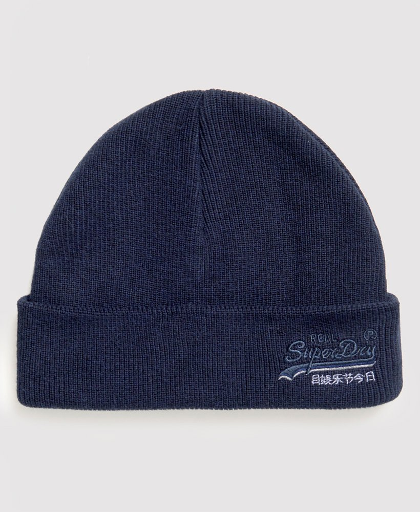 OL downhill Navy/black Grit Beanie by Superdry