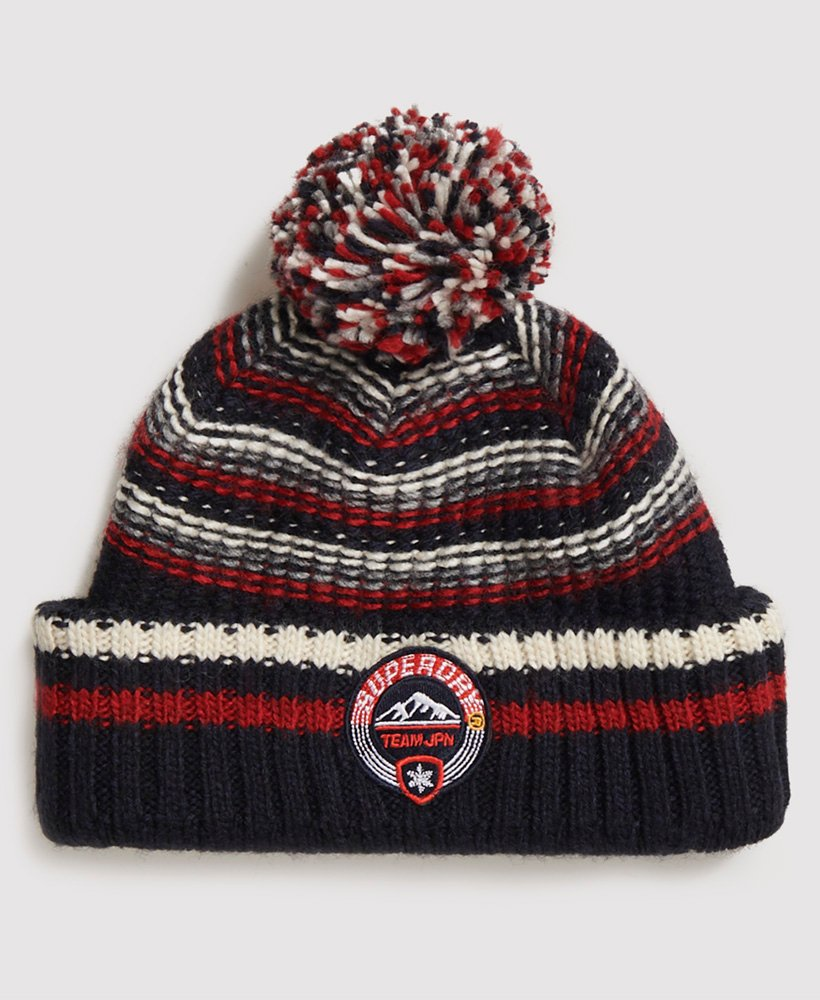 Woodruff Downhill Navy Twist Beanie Hat
