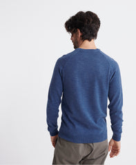 cotton adriatic blue grindle orange label crew jumper