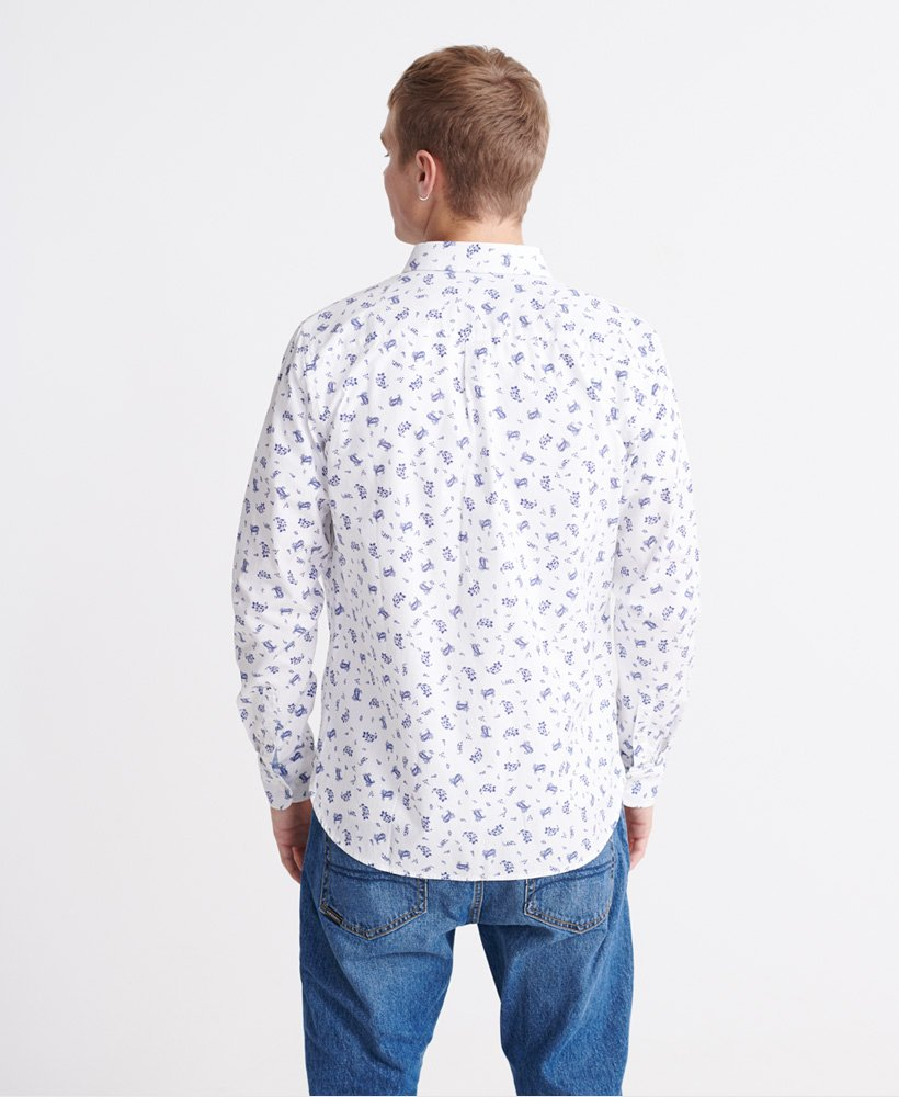 Classic shoreditch print optic paisley shirt