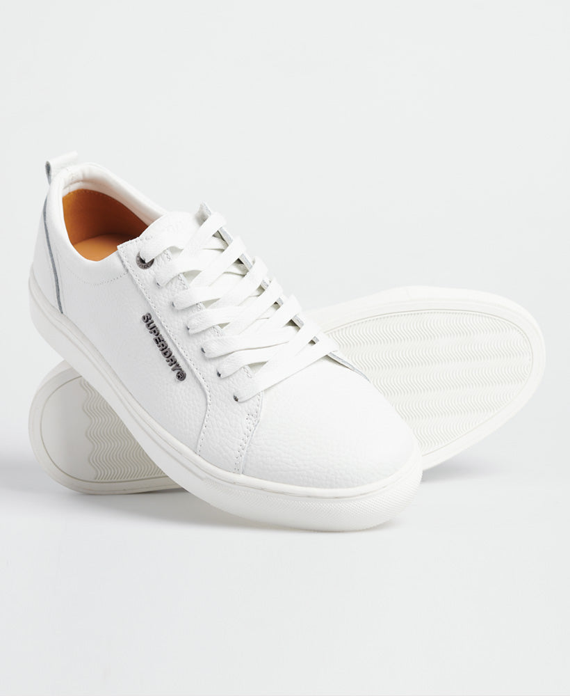 Truman white leather lace up