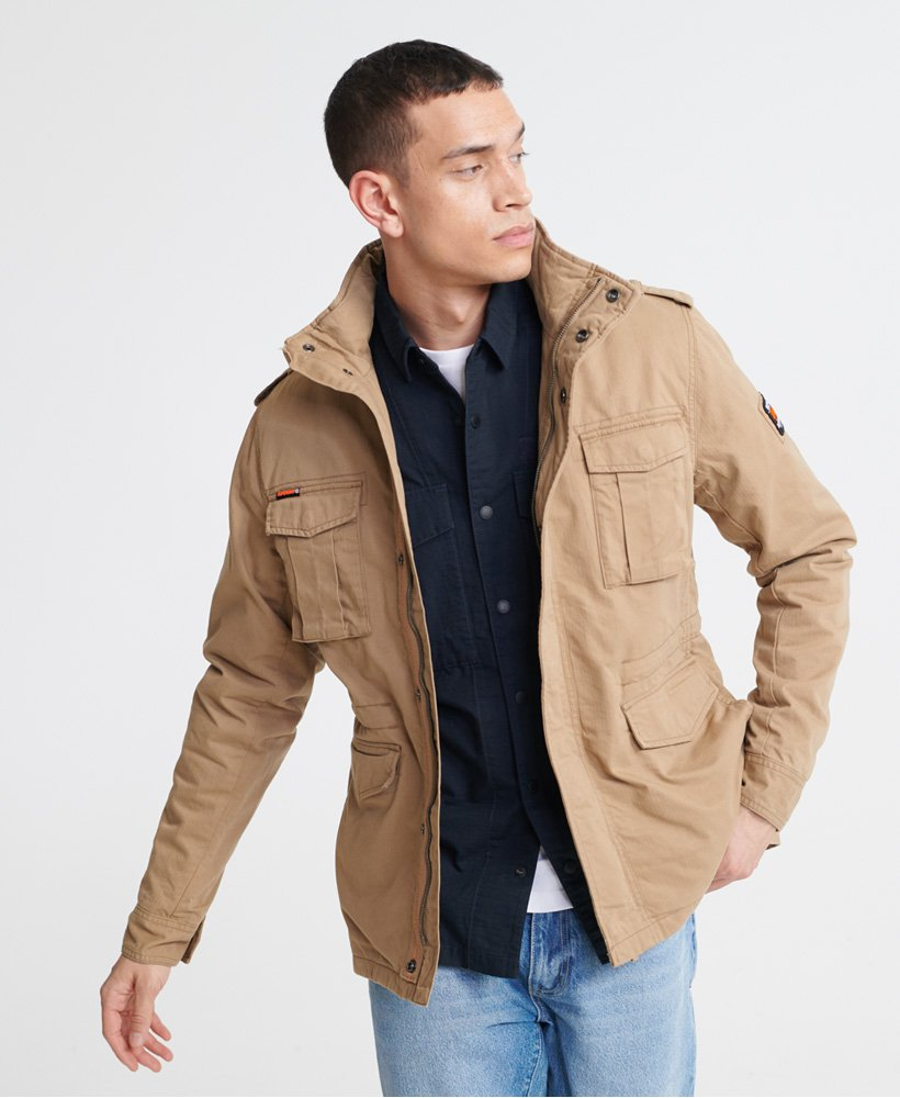 Classic rookie desert sand jacket by Superdry