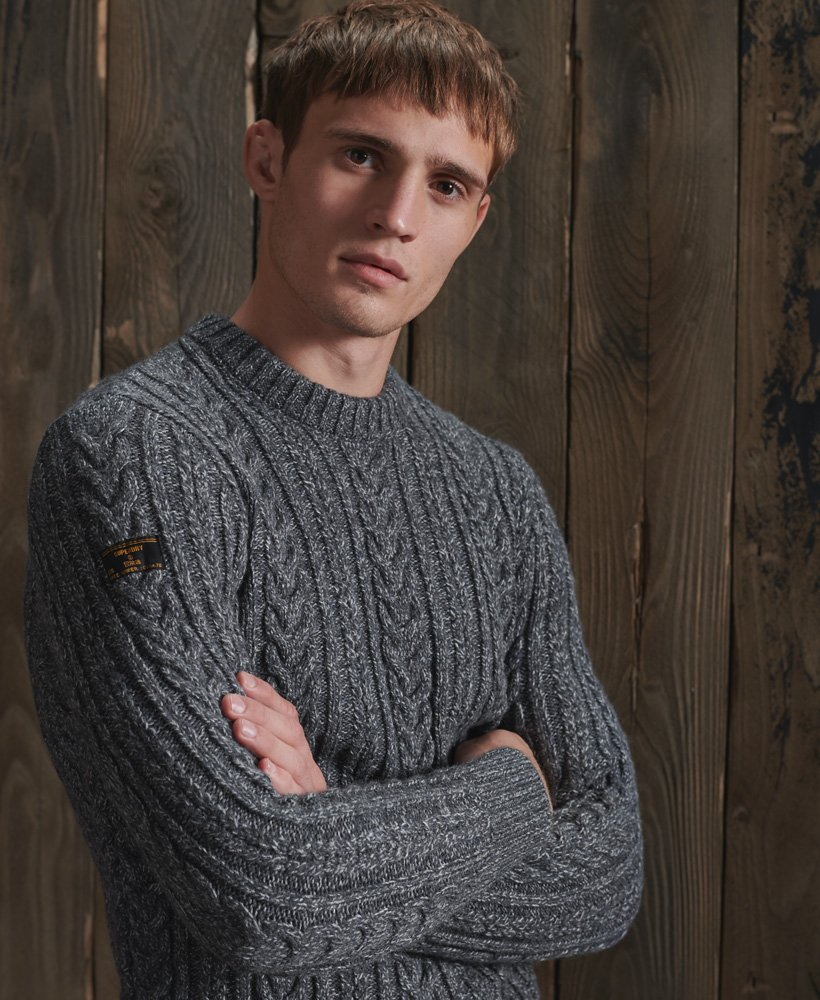 Jacob Cable Crew Jumper grey