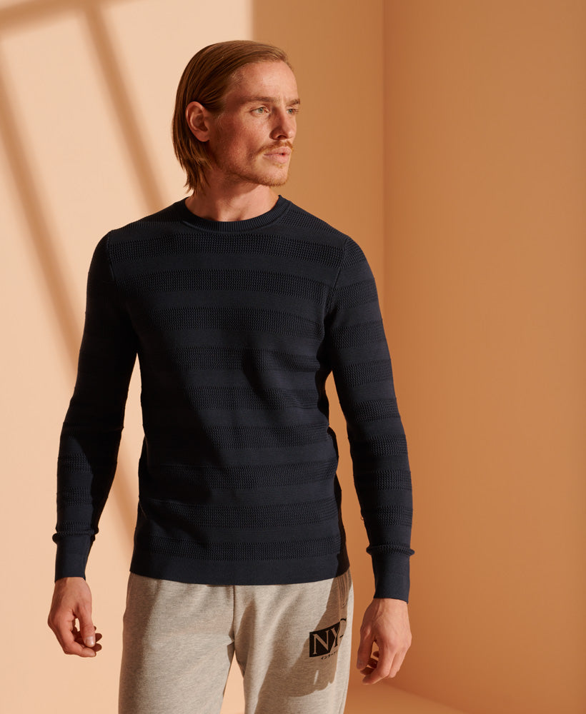 Supima Textured Crew Jumper