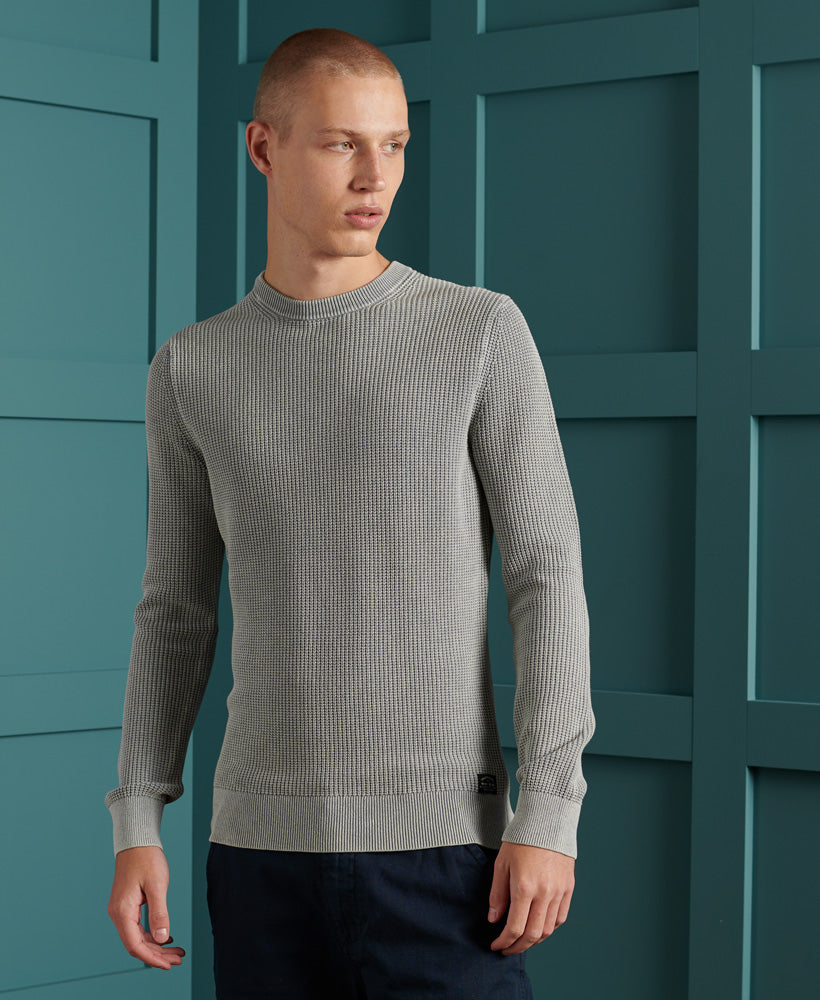 Academy Dyed Texture Crew Jumper
