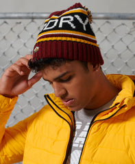 Superdry Logo Beanie Brooklyn Burgundy