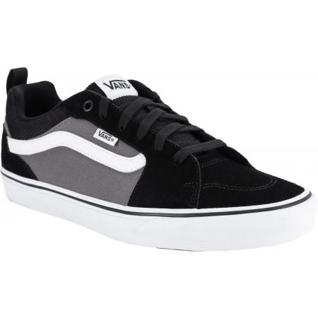 Filmore Suede Canvas Trainers Black Pewter Vans